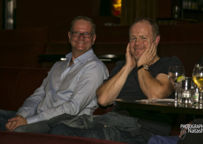 Director Clive Arnold left and Enda Oates