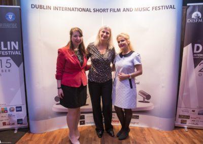 Laura, the Romanian Ambasador in Ireland Manuela Breazu and Dana Tanase