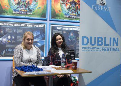 Volunteers Birte Ahr and Maria Moldovan