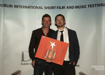 Winner of Best Actor on the right Shane Casey, THE HANSOME SHADOWS